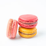 Colorful of macaroons on white background. Colorful macaroons on white background Stock Images
