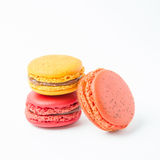 Colorful of macaroons on white background. Colorful macaroons on white background Stock Photography