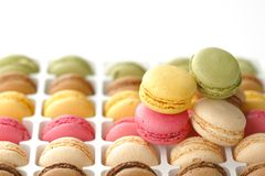 Colorful macaroons Stock Photos
