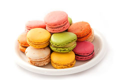 Colorful macaroons Stock Images