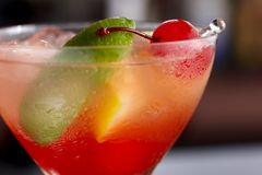 Colorful macro mixed drink Stock Photo