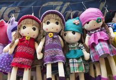 Colorful made in China puppets and teddy for sale Stock Photography