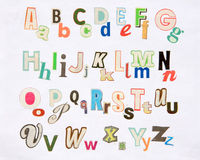 Colorful magazine letter set Stock Photo