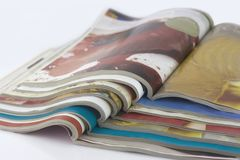 Colorful magazines. Isolated on white Royalty Free Stock Image