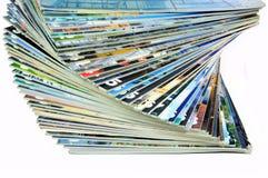 Colorful Magazines. Isolated on white background Stock Photo