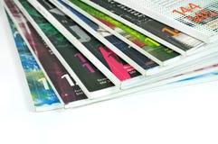 Colorful Magazines. Isolated on white background Royalty Free Stock Photo