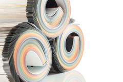 Colorful magazines close up photo Royalty Free Stock Photography