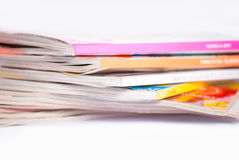 Colorful magazines close up Royalty Free Stock Images