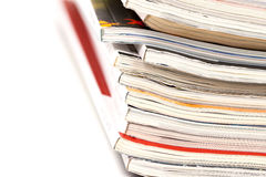 Colorful magazines up close Royalty Free Stock Photos