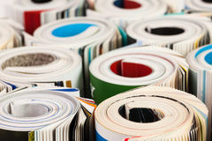 Colorful magazines up close Royalty Free Stock Image