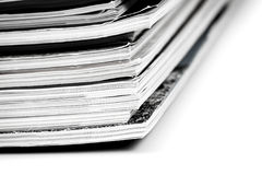 Colorful magazines up close Stock Photography