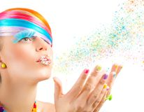 Colorful magic fashion Stock Photos