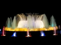 Colorful magic fountain Royalty Free Stock Images