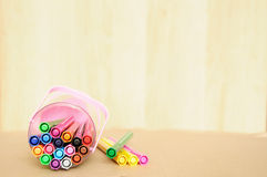 Colorful Magic Marker On Table Royalty Free Stock Photography