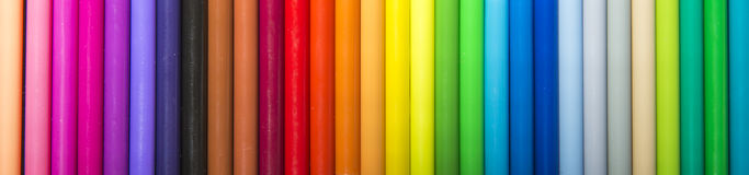 Colorful magic marker on sequence Stock Photo