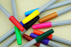 Colorful magic pens Royalty Free Stock Images