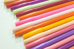 Colorful magic pens Stock Photo