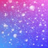 Colorful magic snow sky Royalty Free Stock Image