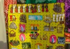 Colorful magnet souvenirs stock image