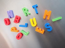 Colorful magnetic letters Royalty Free Stock Image