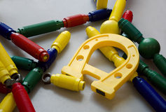 Colorful magnetic toys Stock Images