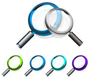 Colorful Magnifying Glass Stock Image