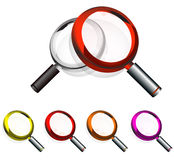 Colorful Magnifying Glass Royalty Free Stock Photo