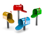 Colorful Mail Boxes Collection Stock Photos