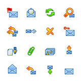 Colorful mail icons Royalty Free Stock Image