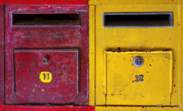 Colorful mailboxes Stock Images
