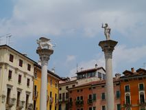 The colorful main square in Vicenza in Italy Royalty Free Stock Photography