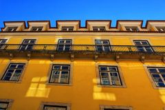 Colorful and majestic old houses in Lisbon. Portugal Stock Images