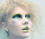 Colorful make-up Stock Images