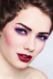 Colorful make-up Stock Photography