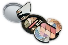 A Colorful Make-Up - Cosmetics Kit Stock Images