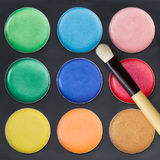 Colorful make-up palette Stock Image