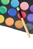 Colorful make-up palette Stock Photography