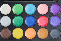 Colorful make-up palette Stock Images
