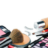 Colorful make-up products Royalty Free Stock Photo