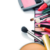 Colorful make-up products Royalty Free Stock Photography