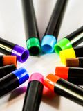 Colorful makers pens Stock Photography