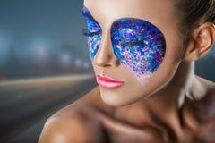 Colorful makeup Stock Photos