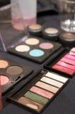 Colorful makeup palettes Stock Photos