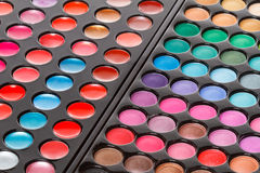 Colorful makeup palettes Royalty Free Stock Image
