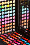 Colorful makeup palettes Royalty Free Stock Images