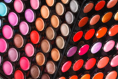 Colorful makeup palettes Stock Image