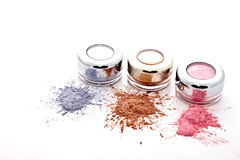 Colorful makeup powder Royalty Free Stock Photography