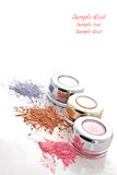 Colorful makeup powder Stock Images