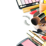 Colorful makeup products royalty free stock photo