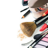 Colorful makeup products royalty free stock image